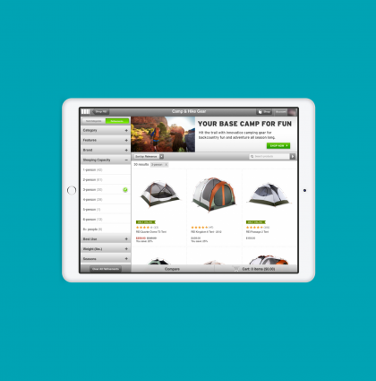 Commerce pages – REI iPad App