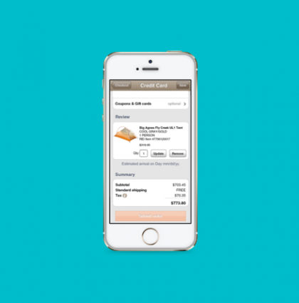 Native checkout for REI's IOS shopping app